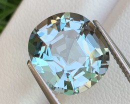 7.47 Cts Fine Grade Electric Blue Natural Aquamarine Master Cut