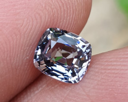 UNHEATED 1.30 CTS NATURAL SUPER PURPLISH GREY SPINEL MOGAK BURMA