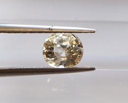 1.48ct unheated yellow sapphire