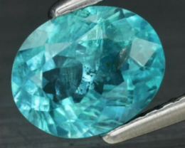 1.13 ct Unheated Apatite Paraiba color