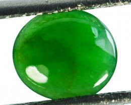 ~UNTREATED~ 1.24 Cts Natural Jade Cabochon Vivid Green Burmese