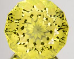~CUSTOM CUT~ 14.55 Cts Natural Beautiful Lemon Quartz Fancy Round Brazil