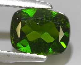 1.45 CTS NATURAL ULTRA RARE CHROME GREEN DIOPSIDE  RUSSIA NR!!