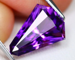 Uruguay Amethyst 3.46Ct VVS Fancy Cut Natural Violet Amethyst B1107