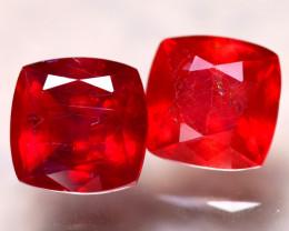Ruby 6.86Ct 2Pcs Madagascar Blood Red Ruby E2002/A20