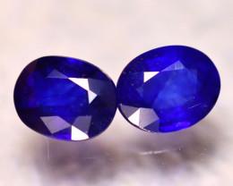 Ceylon Sapphire 5.41Ct 2Pcs Royal Blue Sapphire E2006/A23