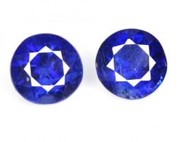 1.87 Cts 2 Pcs Fancy Royal Blue Color Natural Kyanite Gemstone