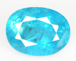 2.07 Cts Un Heated Natural Neon Blue Apatite Loose Gemstone
