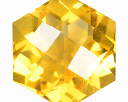 5.30 Cts Fancy Golden Yellow Color Natural Citrine Gemstone