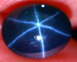 Star Sapphire 3.00Ct Natural 6 Rays Blue Star Sapphire EF2017/A39
