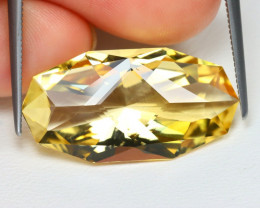 Citrine 11.37Ct VVS Master Cut Natural Yellow Golden Citrine B1174