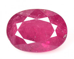 Ruby BURMA 1.35 Cts Oval Shape Pinkish Red Natural Loose Gemstone