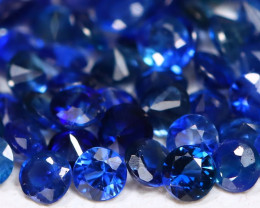 1.70Ct Calibrate 1.6mm Natural Vivid Blue Sapphire Round Lot B1121