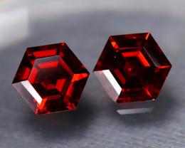 Almandine 3.89Ct 2Pcs VS Hexagon Cut Natural Almandine Garnet B1122