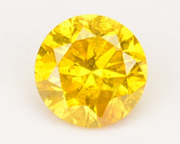 ~SPARKLING~ 0.11 Cts Natural Diamond Golden Yellow 3.00mm Round Africa