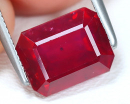 Red Ruby 3.89Ct Octagon Cut Pigeon Blood Red Ruby B1201
