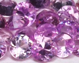 1.48Ct Calibrate 2.1mm Round Natural Pink Color Sapphire Lot B1205