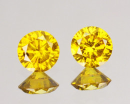 ~Matching pair~ 0.16 Cts Natural Golden Diamond 2.70mm Round 2Pcs Africa