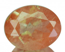 1.84 Cts Natural Greenish Red Sunstone Andesine Oval Cut Congo