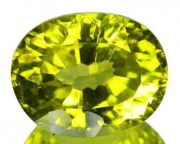 ~Concave cut~6.67 Cts Natural Beautiful Lemon Quartz Oval Cut Brazil