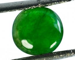 ~UNTREATED~ 1.05 Cts Natural Jade Cabochon Vivid Green Burmese