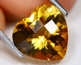 Citrine 3.01Ct VVS Pixalated Cut Natural Golden Yellow Citrine AB1158