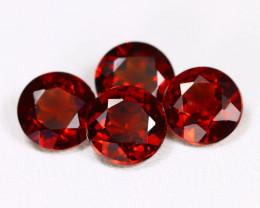 Spessartite 3.47Ct 4Pcs Round Cut Natural Spessartite Garnet B1168