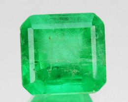 0.93Cts Natural Vivid Green Emerald Octagon Cut Colombia
