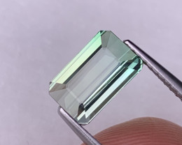2.24 Cts Fine Grade Seafoam Blue/Green Bi Color Natural Tourmaline