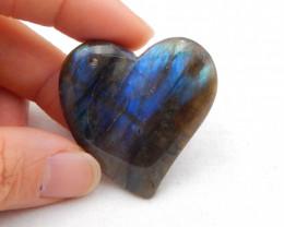 113cts Heart Shape Pendant ,Handmade Gemstone ,Labradorite Pendant ,Lucky S