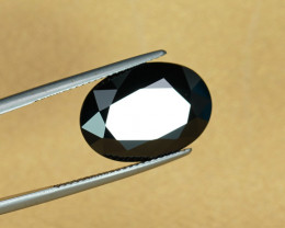 A Huge 11.56CT Natural BLACK SPINEL with VERY BRIGHT POLISH $1NR!