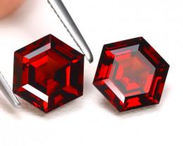 Spessartite 3.82Ct 2Pcs Hexagon Cut Natural Spessartite Garnet Lot B1255