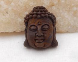 73.5ct Natural Boulder Opal Craved Buddha Head Pendant H772