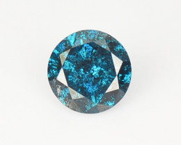 0.24 Cts Sparkling Rare Fancy  Blue Color Natural Loose Diamond