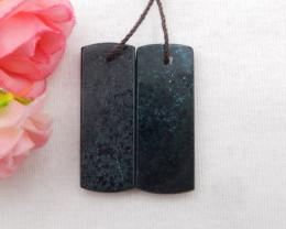 42.5cts Nugget Moss Agate Earrings gemstone earrings beads, stone for earri