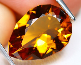 Mandera Citrine 4.04Ct VVS Pear Cut Natural Orange Mandera Citrine B1392