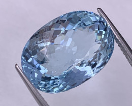 14.01 Cts AAA Quality Sly Blue Natural Aquamarine Excellent Luster