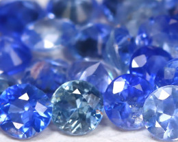 1.81Ct Calibrate 2.1mm Natural Vivid Blue Sapphire Round Lot B1429