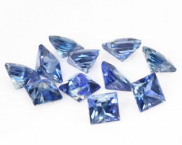 1.43 Cts 11 Pcs Amazing Rare Natural Fancy Blue Sapphire Loose Gemstone