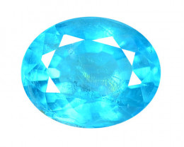 *NoReserve* 1.54 Cts Un Heated Natural Neon Blue Apatite Loose Gemstone