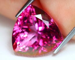 Pink Topaz 9.16Ct VVS Trillion Cut Natural Pink Color Topaz B1359