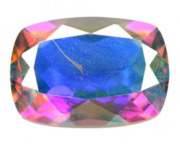 6.44 Cts Rare Fancy White Rainbow Colors Natural Mystic Topaz