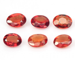 Sapphire 1.02 Cts 6 Pcs Natural Fancy Orange Red Sapphire Loose Gemston