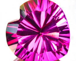 ~PRETTY~ 4.24 Cts Candy Pink Natural Topaz 10mm  Concave Heart Cut Brazil