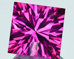 ~SIZZLING~ 5.91 Cts Candy Pink Natural Topaz 10mm Concave Square Cut Brazil