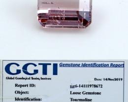 NR!!! 1.15 Cts~ GGTI-Certified- Pink Tourmaline Gemstone