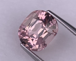 2.90 Cts Afghanistan Top Quality Baby Pink Natural Tourmaline Custom Cut