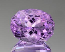 Natural  Amethyst 17.55 Cts Precision Cut Gemstone