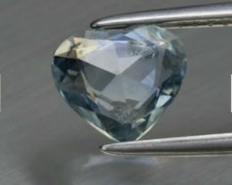Certificate Rose Cut Heart Fancy Sapphire