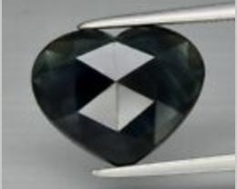 5.21ct Heart Rose Cut Sapphire